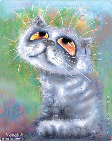 Всем добрый день!Мне очень нравятся кошки художника Бориса Касьянова,вот решила и себе сделать такого кота фото 2