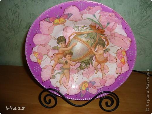 Вот такая тарелочка получилась фото 1