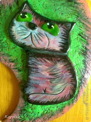 Всем добрый день!Мне очень нравятся кошки художника Бориса Касьянова,вот решила и себе сделать такого кота фото 3