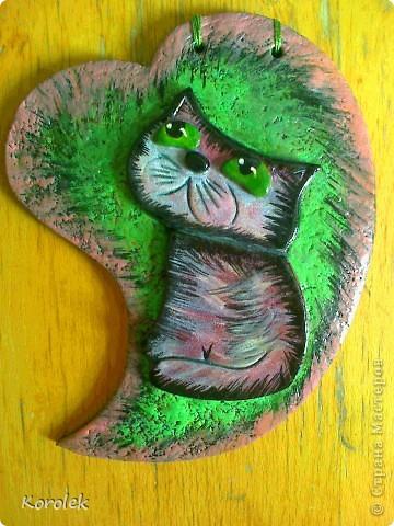 Всем добрый день!Мне очень нравятся кошки художника Бориса Касьянова,вот решила и себе сделать такого кота фото 1