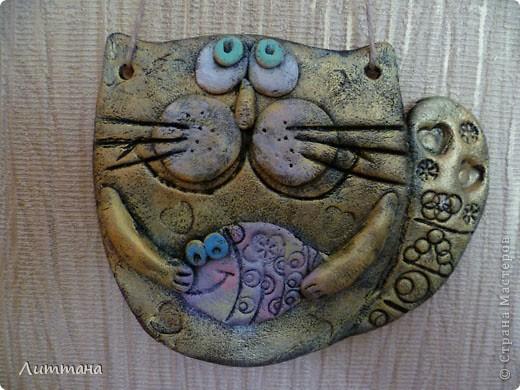 Теперь Лерочкины солёные котики совсем готовы!!! Роспись полусухой кистью очень её заинтересовала. фото 4
