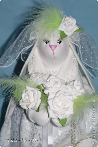 """Игрушка """"Зайка - невеста"""" фото 2"""