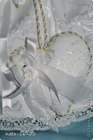 """Игрушка """"Зайка - невеста"""" фото 4"""