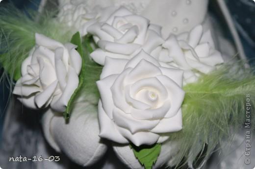 """Игрушка """"Зайка - невеста"""" фото 3"""