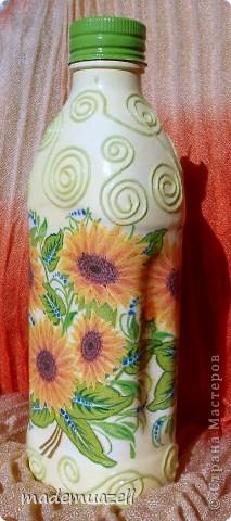 Вот чего-то такого мне захотелось иметь)))  Солнечная бутылочка для подсолнечного масла. фото 4