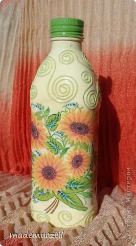 Вот чего-то такого мне захотелось иметь)))  Солнечная бутылочка для подсолнечного масла. фото 1