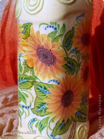 Вот чего-то такого мне захотелось иметь)))  Солнечная бутылочка для подсолнечного масла. фото 2