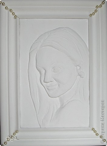 Гипс, портрет, + рамка