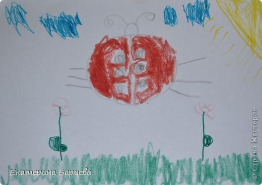 Эту работу, витраж, она делала для садика на конкурс и выиграла.... )))))) фото 5