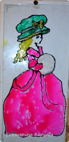 Эту работу, витраж, она делала для садика на конкурс и выиграла.... )))))) фото 7