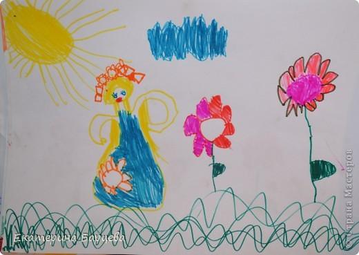 Эту работу, витраж, она делала для садика на конкурс и выиграла.... )))))) фото 13