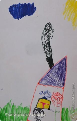 Эту работу, витраж, она делала для садика на конкурс и выиграла.... )))))) фото 14