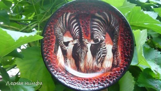 Эту тарелочку я сделала в подарок на день рождения своей маме. фото 1