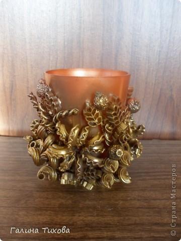 Рамка для фото, декорированная макаронами. фото 15