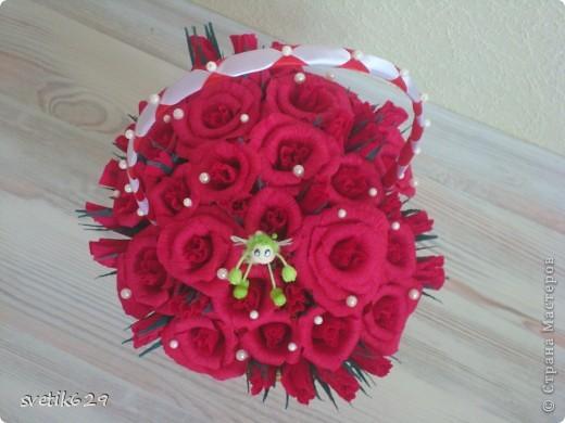Корзиночка была сделана для родителей подруги 23 августа у них жемчужная свадьба 30 лет совместной жизни. фото 4