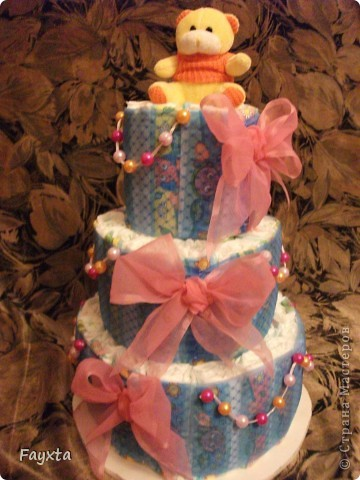 Торт из памперсов фото 1