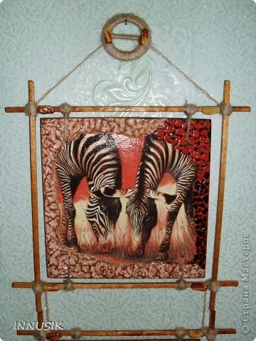 """Приветствую всех ко мне заглянул, гостей и пользователей  нашей Страны. Выставляю сегодня очередное панно """"Сафари"""". Признаю идея его изготовления была у меня давно, ждала салфеточку со слонами и вот... ГОТОВО!!! Здесь я продолжаю свои эксперименты со шпатлевкой))) фото 7"""