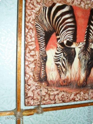 """Приветствую всех ко мне заглянул, гостей и пользователей  нашей Страны. Выставляю сегодня очередное панно """"Сафари"""". Признаю идея его изготовления была у меня давно, ждала салфеточку со слонами и вот... ГОТОВО!!! Здесь я продолжаю свои эксперименты со шпатлевкой))) фото 5"""