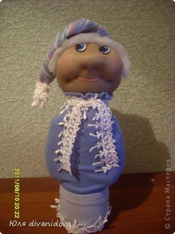 Моя первая куколка в текстильной технике.Получилась бабулечка ))) фото 2