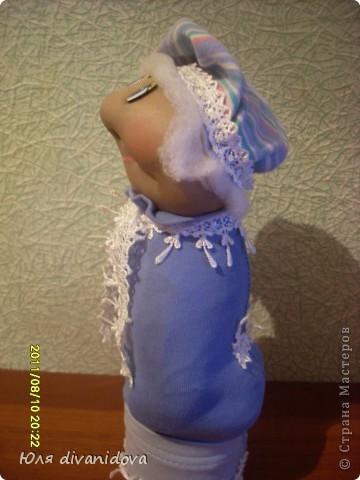 Моя первая куколка в текстильной технике.Получилась бабулечка ))) фото 3