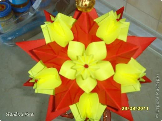 Основа - торнилло, цветочки -  видоизмененный модуль пуансетии, автор Татьяна Высочина. фото 4