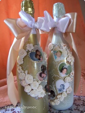 Сюрприз для молодых, декор бутылок фотографиями. фото 2