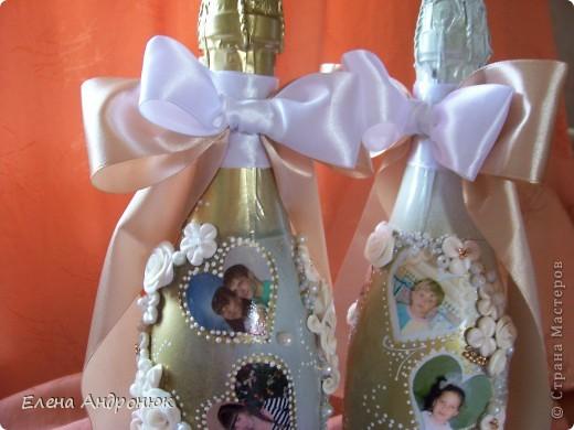 Сюрприз для молодых, декор бутылок фотографиями. фото 3