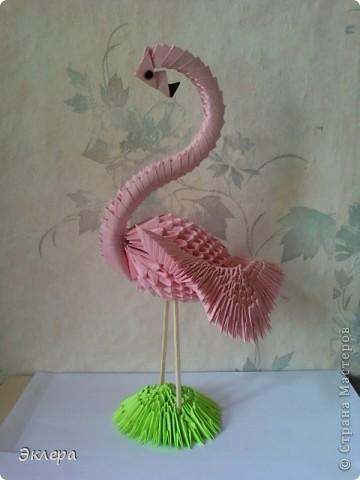 Розовый фламинго...Одна из любимых моих поделок
