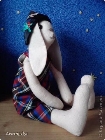 В подарок крестнице пошилась вот такая игрушка. Ну очень симпотная зая (т.к. получилась девочка, хотя, первоначально задумывался мальчик).  фото 2