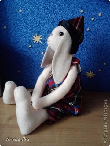 В подарок крестнице пошилась вот такая игрушка. Ну очень симпотная зая (т.к. получилась девочка, хотя, первоначально задумывался мальчик).  фото 3