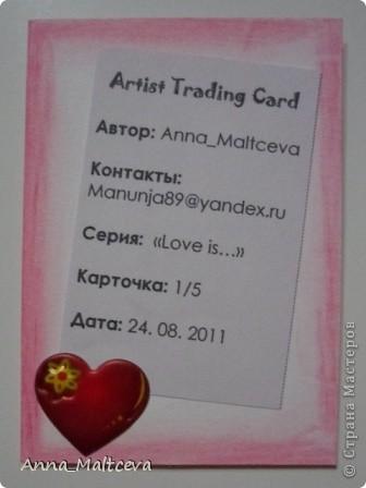 """Привет! Знакомьтесь, это серия """"Love is..."""" Нашла старую заначку- вкладыши из одноименной жвачки) И вот что получилось. фото 3"""