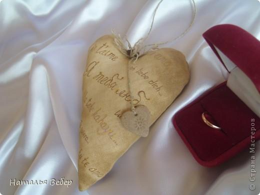 Текстильные ароматические сердца,а-ля в чердачном стиле. Сшиты из бязи,наполнение синтепух,пропитаны смесью кофе+корица+ваниль.Длина около 20см и около 10см. фото 9