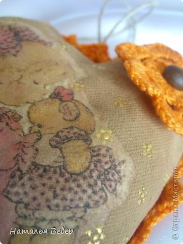 Текстильные ароматические сердца,а-ля в чердачном стиле. Сшиты из бязи,наполнение синтепух,пропитаны смесью кофе+корица+ваниль.Длина около 20см и около 10см. фото 16