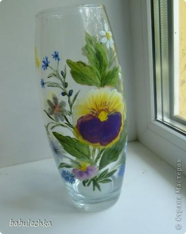 25июня2012года оять взялась за эту вазу  и внесла коррективы в цвет лепестков  и листьев. фото 6