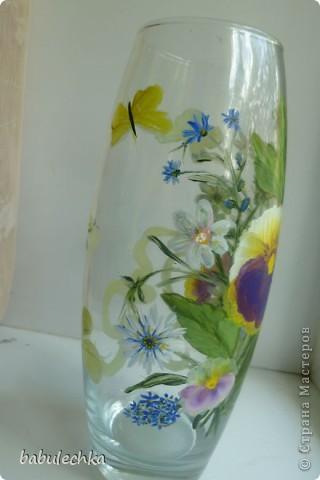 25июня2012года оять взялась за эту вазу  и внесла коррективы в цвет лепестков  и листьев. фото 8