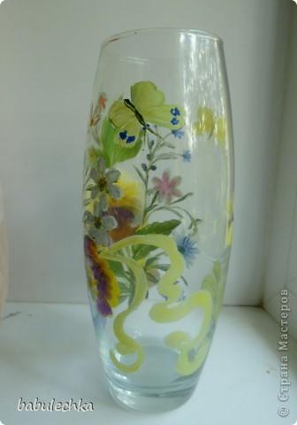 25июня2012года оять взялась за эту вазу  и внесла коррективы в цвет лепестков  и листьев. фото 7