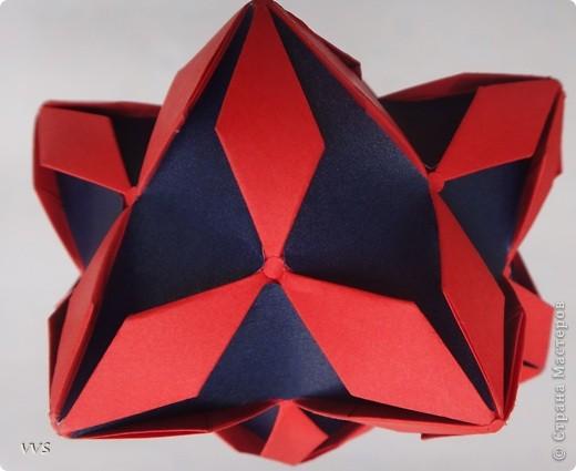Идея была сделать кусудаму в подарок, с узнаваемой эмблемой Mitsubishi. Большое спасибо Валентине Минаевой (http://stranamasterov.ru/user/46467) за поддержку в реализации замысла. Хотя подарок и не получился, результат может заслужить Ваше внимание.  фото 4
