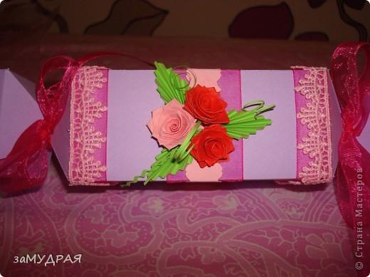 """Эта """"конфетка"""" коробочка моя повторюшка. К сожалению имя автора не запомнила ((( Надеюсь что она будет не против.   Очень благодарна ей за идею !!!!! фото 1"""