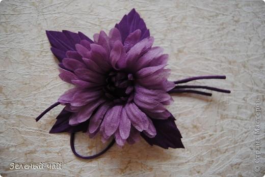 Цветок из натурального шелка фото 1
