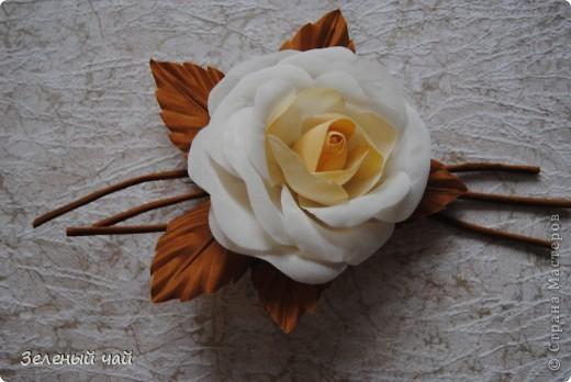Цветок из натурального шелка фото 2