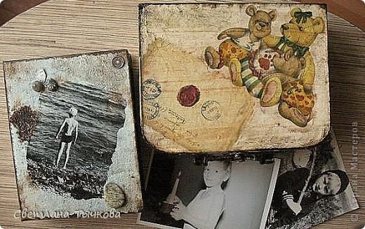 Изначально был в этом чемоданчике подарок сына-кофейный набор на две персоны.Чашки давно выставлены на полку,а в самом чемоданчике хранились разные нужные мне вещицы. фото 18