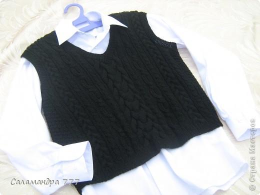Скоро в школу! Чтобы не замерзнуть до начала отопительного сезона в школе оденем такую жилетку! фото 6