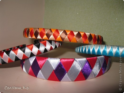 Плетение из 4 лент МК Клей