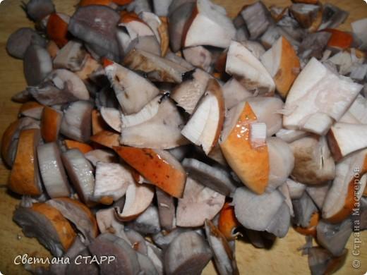 Угощаю грибной зажаркой с картофельным пюре. фото 3