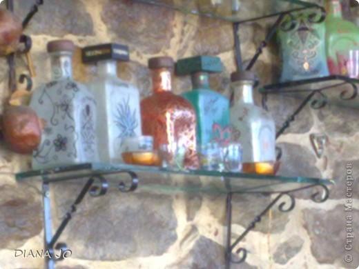 мои первые росписные бутылочки делала их еще в прошлом году фото 5
