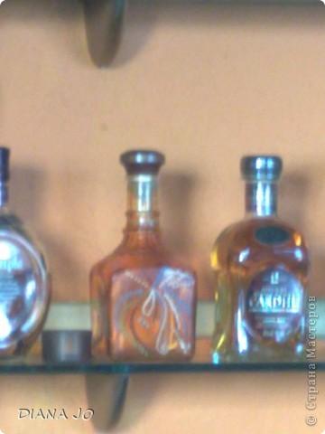 мои первые росписные бутылочки делала их еще в прошлом году фото 6