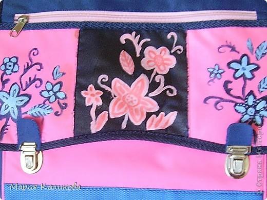 Я обновила свой портфель, расписала акриловыми красками. фото 2