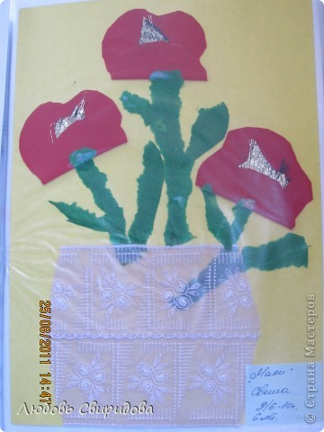 пасхальная открытка(салфетки,ткань,бусинки фото 3
