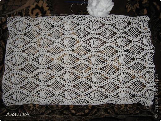 Вот связался за 1,5 месяца шарф по заказу мамы,  торопилась к первому сентября. Ширина  35 см на 1,90.  фото 5