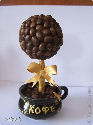 деревце в кофейной чашечке) снизу насыпан крашеный песок) фото 2